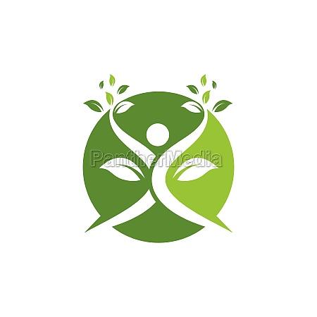 healthy, life, menschen, logo-vorlage, vektor - 29817305