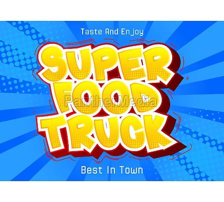 super, food, truck, -, comic-buch-stil-text., - 29817254