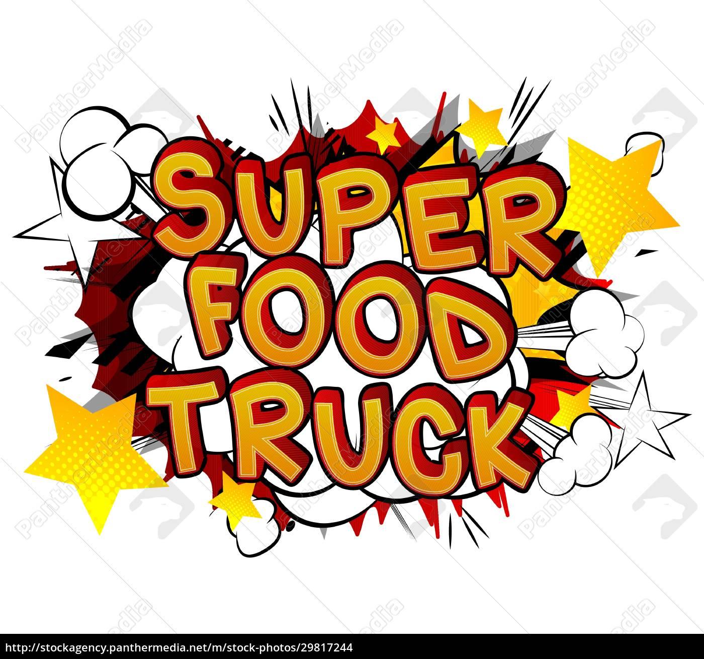 super, food, truck, -, comic-buch-stil-text. - 29817244
