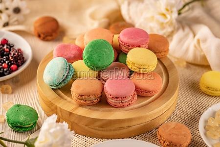 franzoesische macarons zarte sandwich cookies