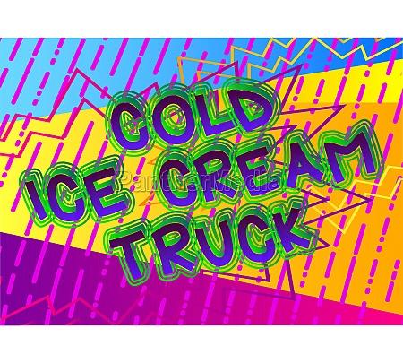 cold, ice, cream, truck, -, comic - 29822257
