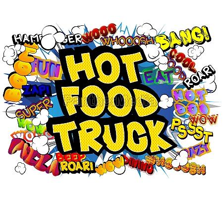 hot, food, truck, -, comic-buch-stil-text., - 29831084