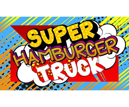 super, hamburger, truck, -, comic-buch-stil-text., - 29831082