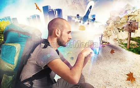 explorer, erinnert, sich, an, seine, reisen - 29839509