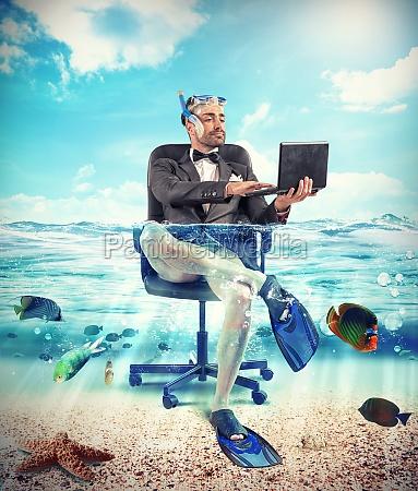 seine zeit zum urlaub mit unterwasser