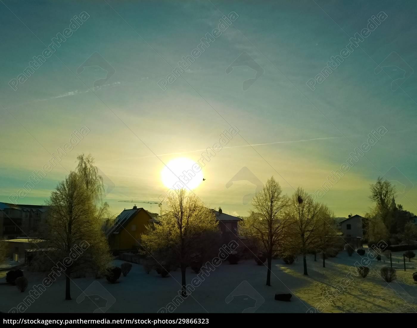sonnenaufgang, im, winter, in, der, uckermark - 29866323