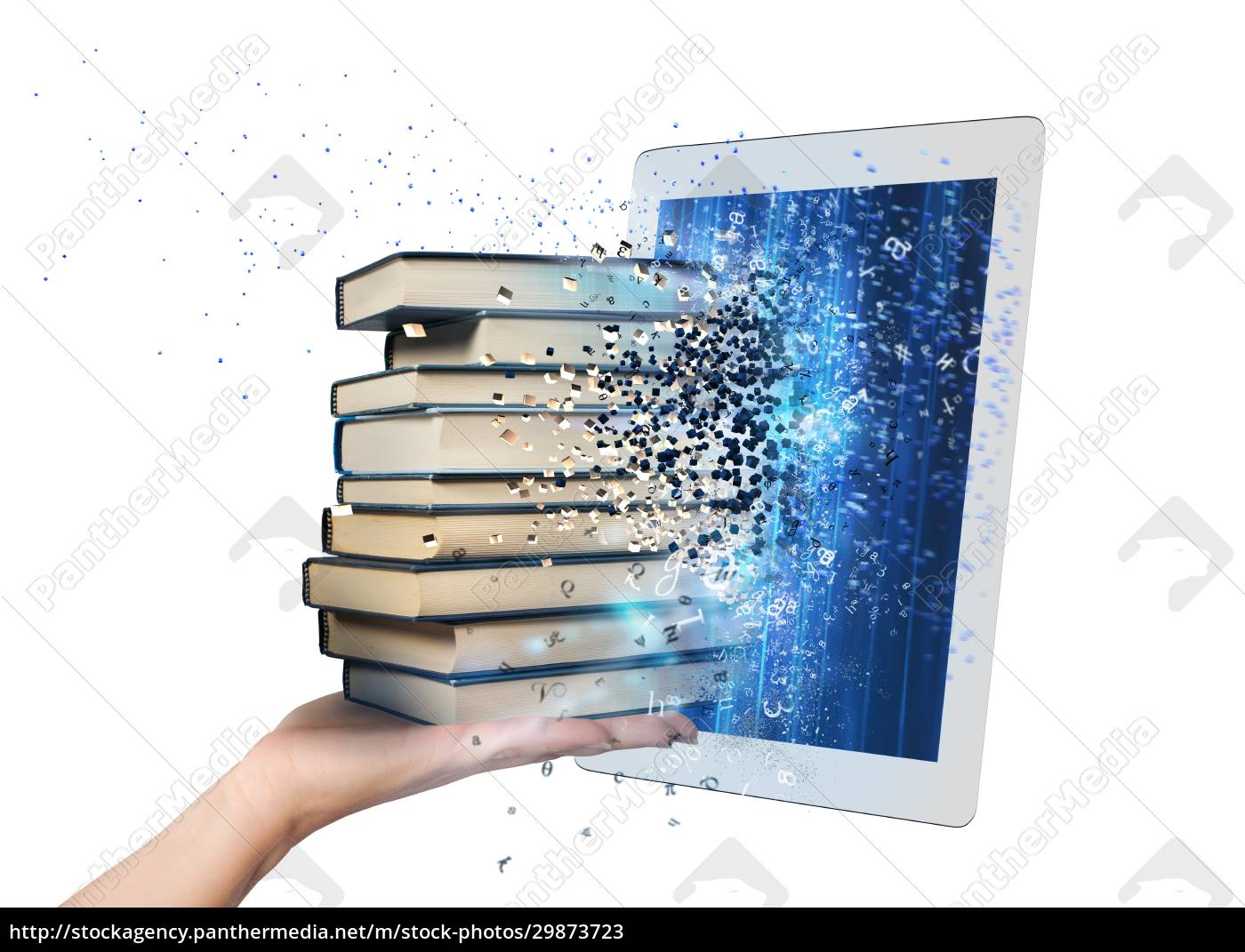 reading, books, with, an, e-book - 29873723