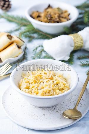 kohl mit erbse zu weihnachten