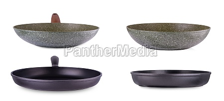 new, frying, pans, isolated, over, white - 29880646