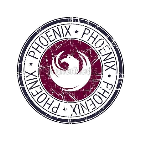 city, of, phoenix, , arizona, vector, stamp - 29882085