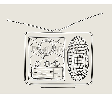 vintage radio skizze 2