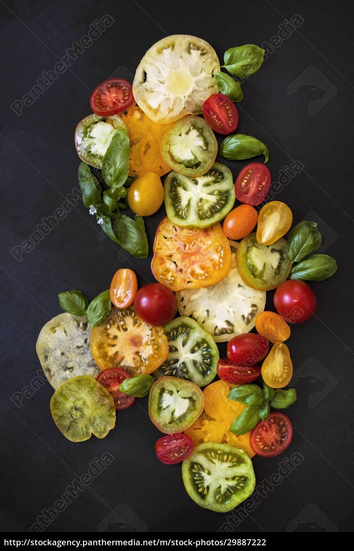 tomato, and, basil, still, life - 29887222