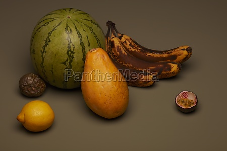 fruit, still, life, with, brown, bananas - 29888484