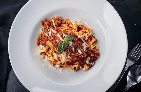 leckere, italienische, pasta, mit, fleischsauce, und - 29888288