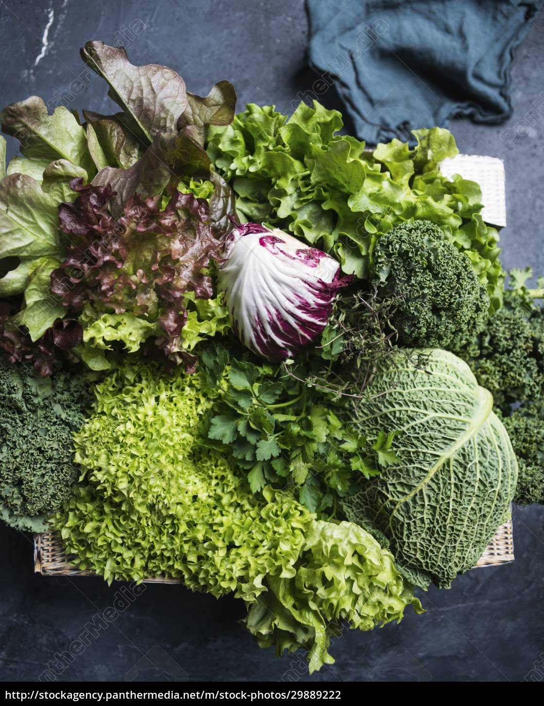 a, crate, of, savoy, cabbage, , parsley, - 29889222