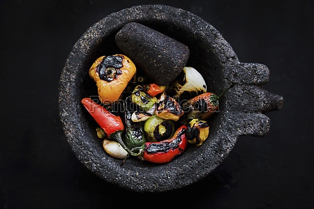 roasted, vegetables, placed, on, black, tray - 29890385
