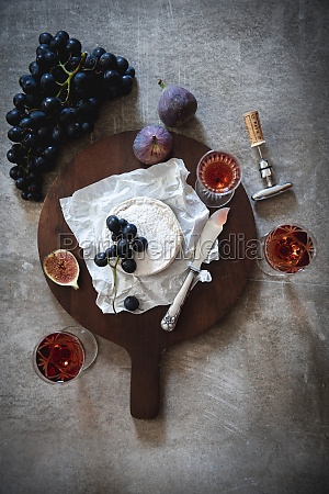 still, life, with, cheese, , wine, , and - 29893439
