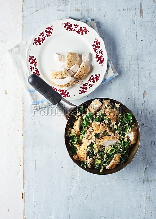 roasted, chicken, and, kale, stir, fry - 29895422