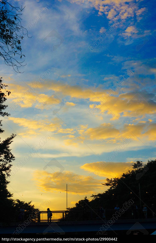 abend, der, grünen, kulturzone, (tokyo, tachikawa) - 29900442