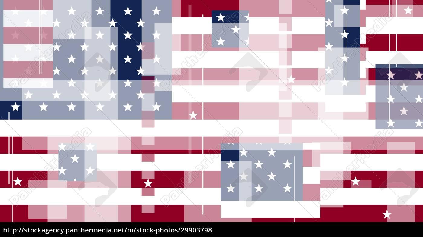 graphic, illustration, of, american, flag - 29903798