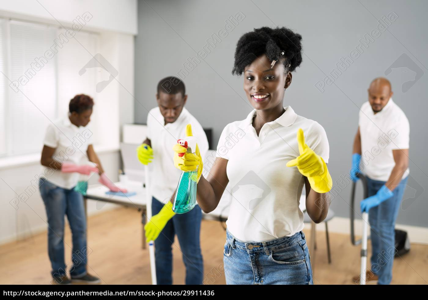 african, janitor, woman, cleaning, office - 29911436