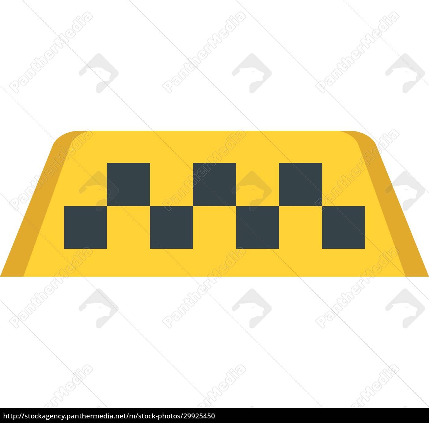 taxi-schild-symbol, im, flachen, stil - 29925450