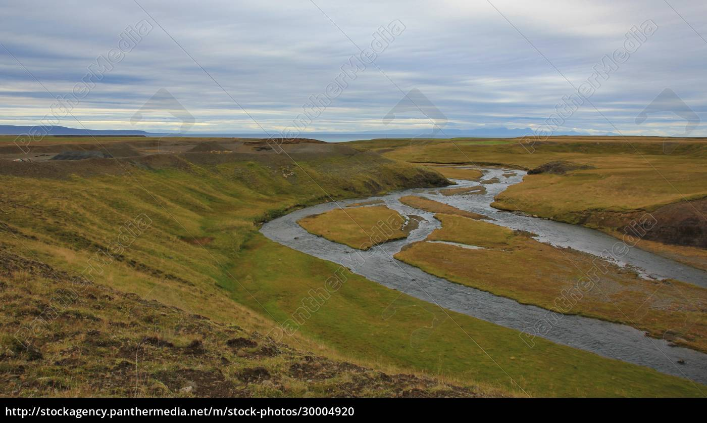 river, near, skagastroend, , north, iceland., green - 30004920