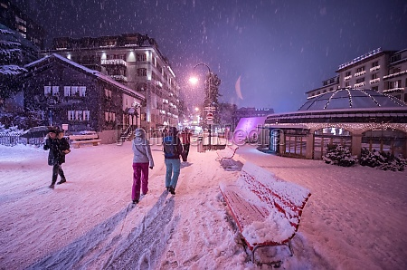 snowy, streets, of, the, alpine, mountain - 30005405