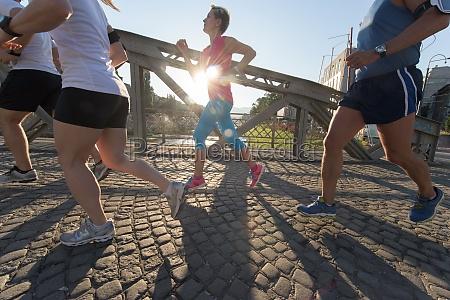 personengruppe, joggen - 30006451