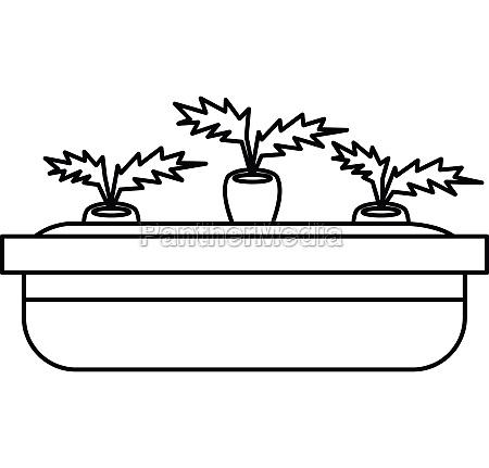 blumentopf, für, pflanzen, icon, umrissstil - 30034707