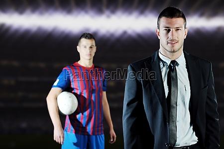 professioneller sportmanager und trainer