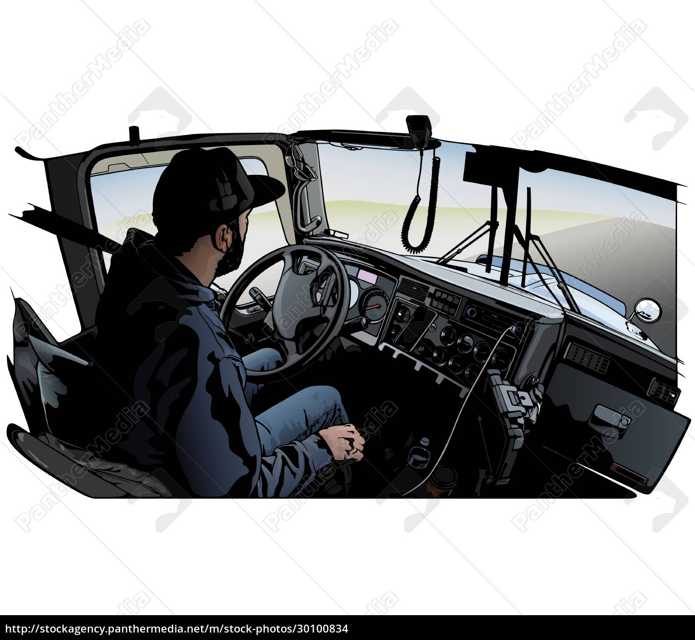 professional, truck, driver, driving, truck - 30100834