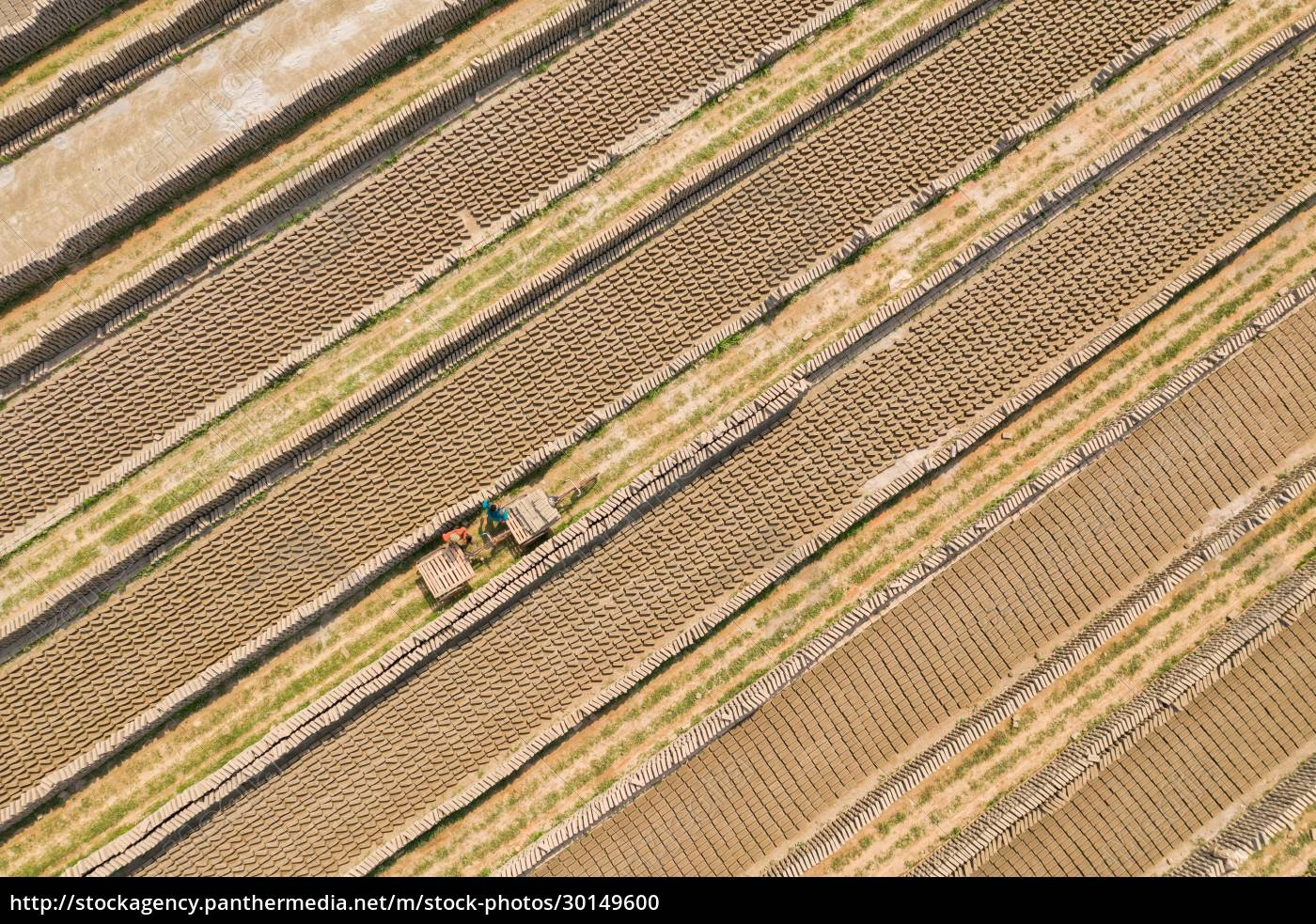 aerial, view, of, a, brick, factory - 30149600