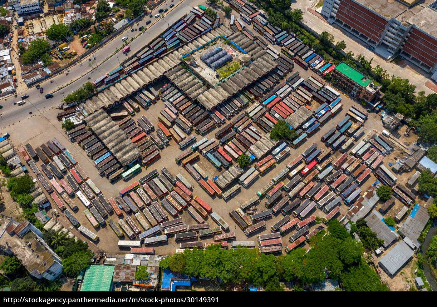 aerial, view, of, mohakhali, , a, bus - 30149391