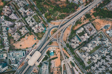 aerial, view, of, gurugram, district, with - 30151828