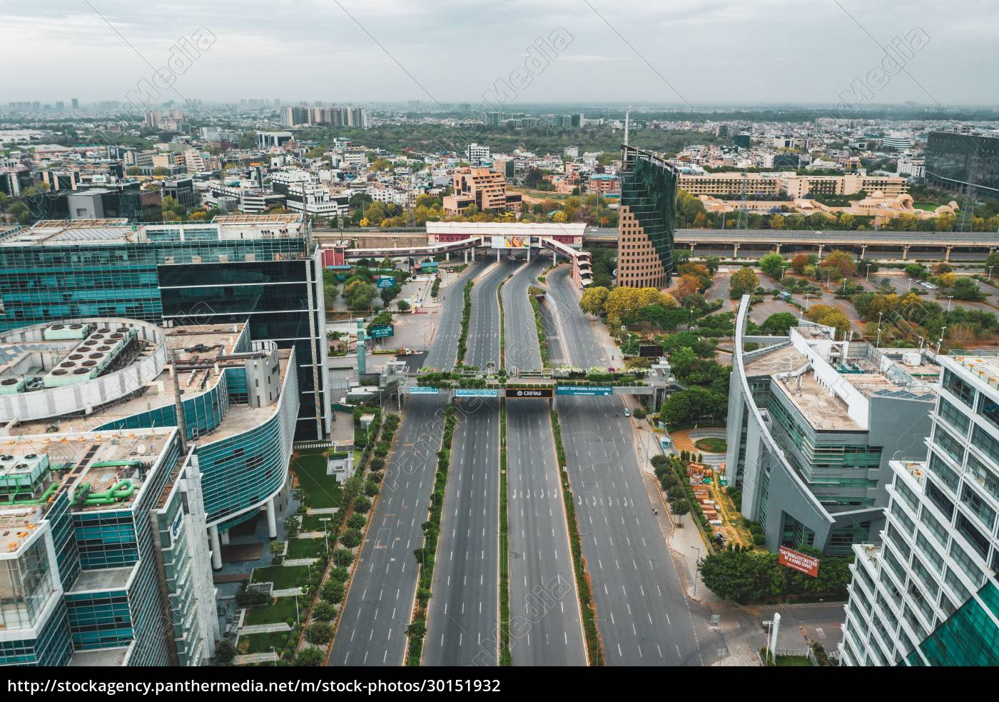 aerial, view, of, gurugram, district, with - 30151932