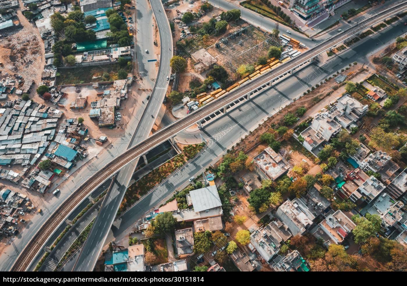 aerial, view, of, gurugram, residential, district - 30151814