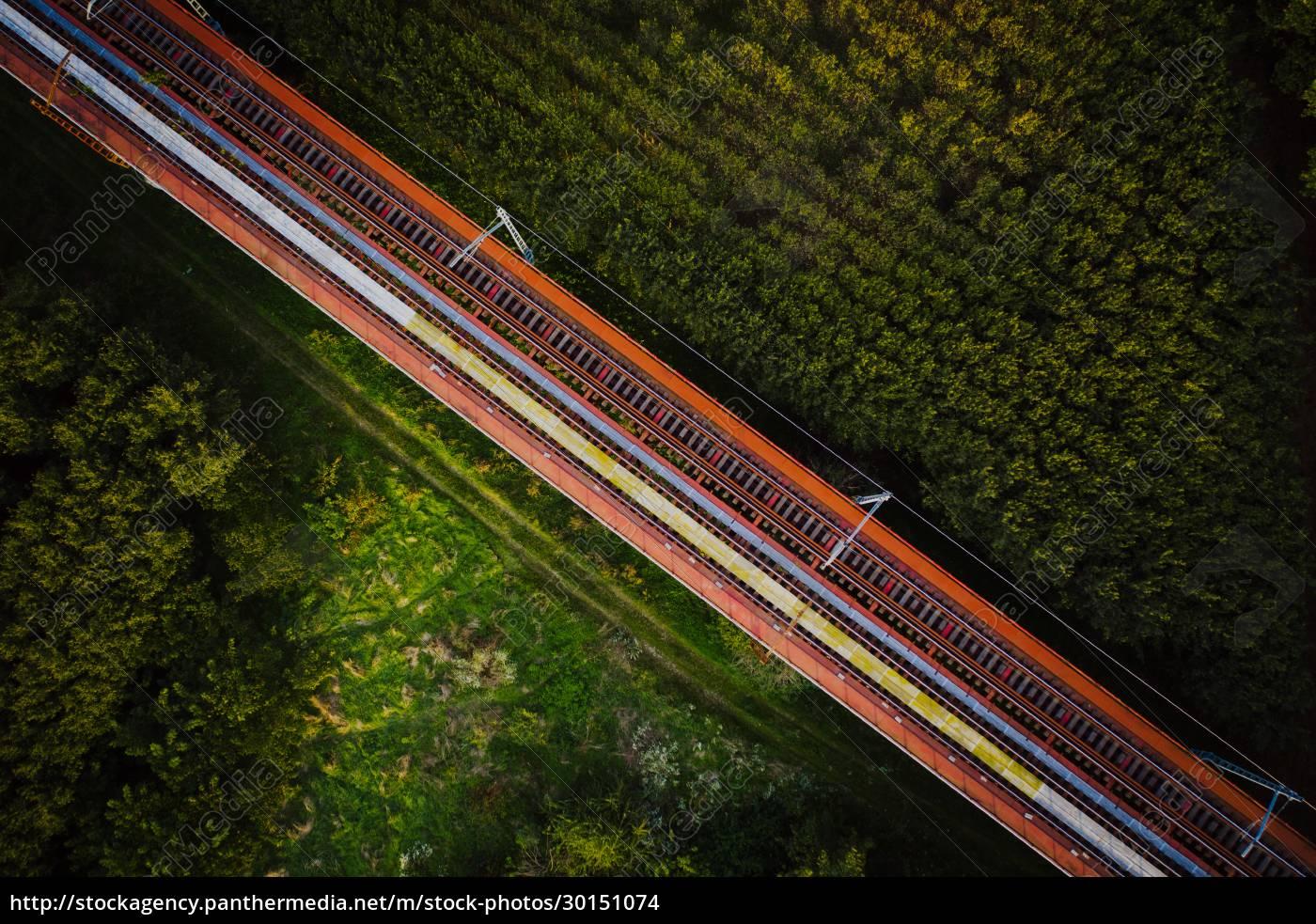 aerial, view, of, train, rail, road - 30151074