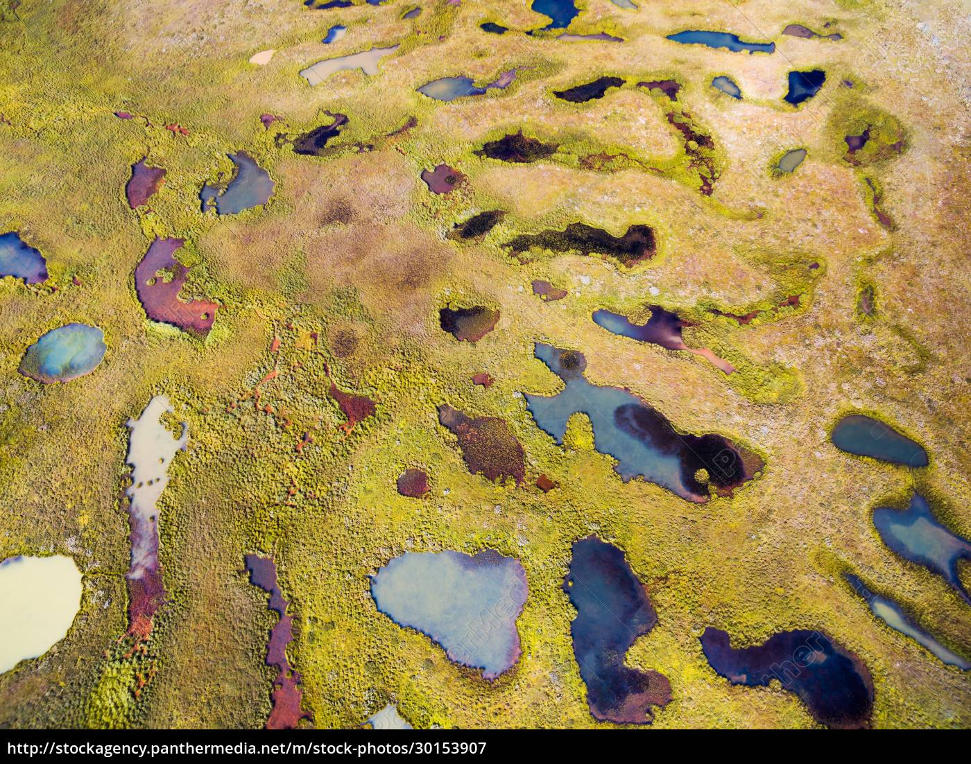abstract, aerial, view, of, colourful, ponds, - 30153907