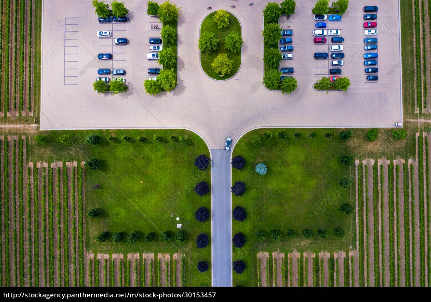 aerial, view, of, a, small, parking - 30153457