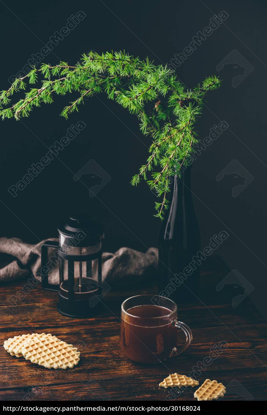cup, of, coffee, with, waffles - 30168024