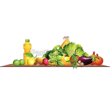 frischgemuese und olivenoel abbildung