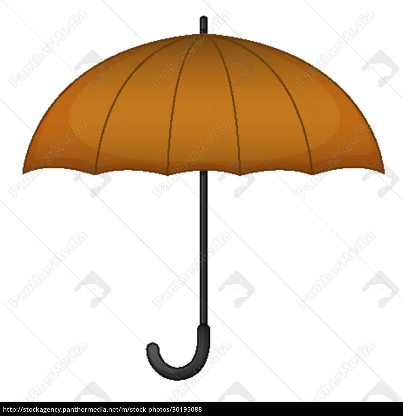 brown, umbrella, with, no, graphic - 30195088