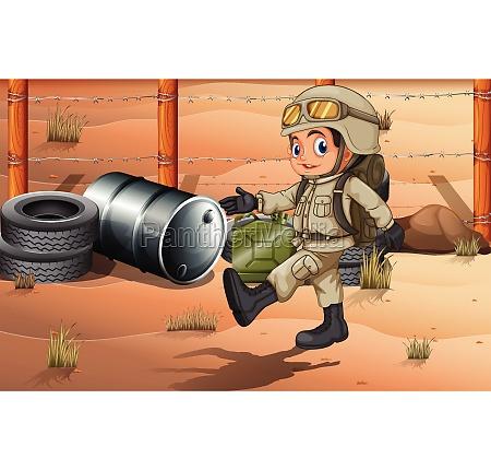 ein, junger, soldat - 30200687