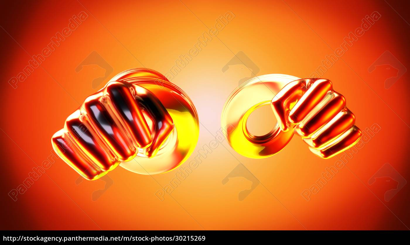 abstract, fight, -, 3d, illustration - 30215269