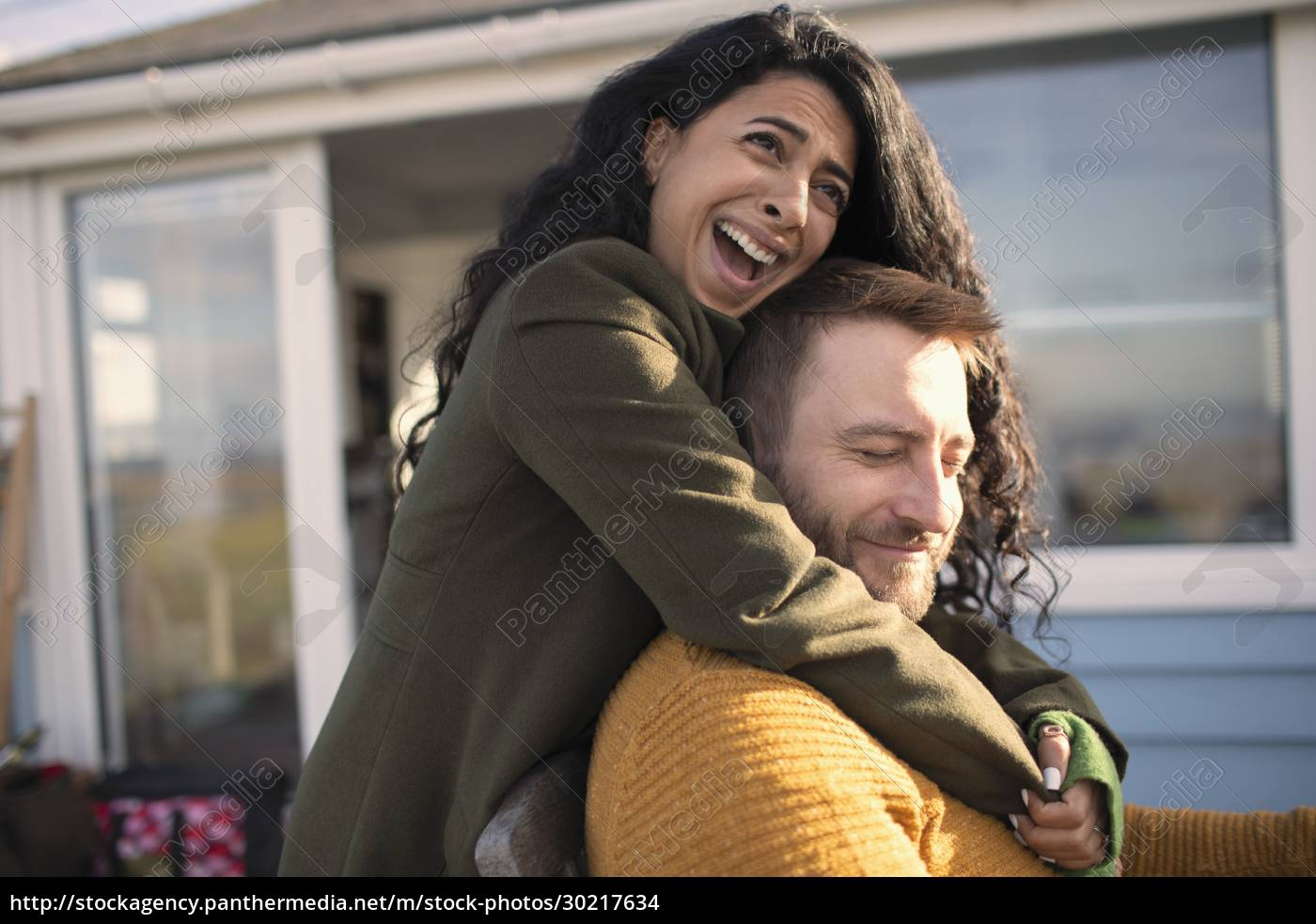 happy, affectionate, couple, laughing, and, hugging - 30217634