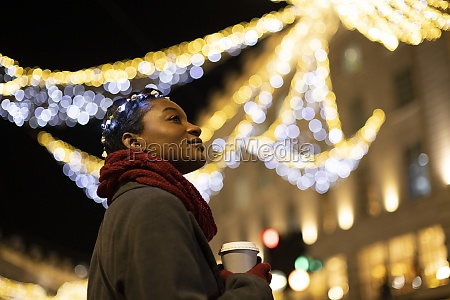 serene, young, woman, with, coffee, in - 30220514