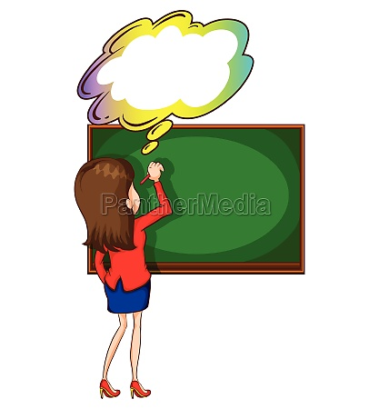 a, teacher, writing, at, the, board - 30230173
