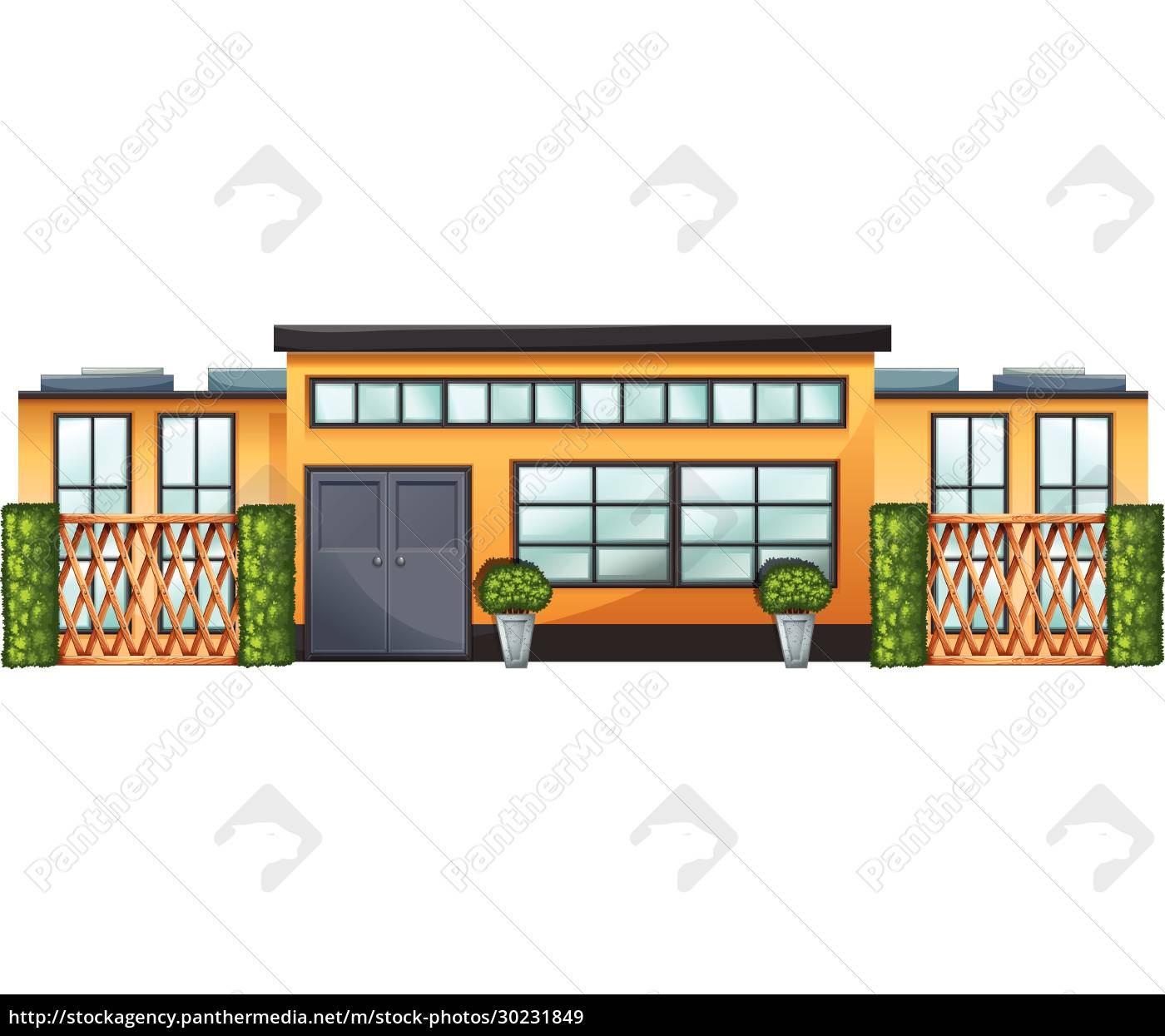 a, building, with, green, plants - 30231849