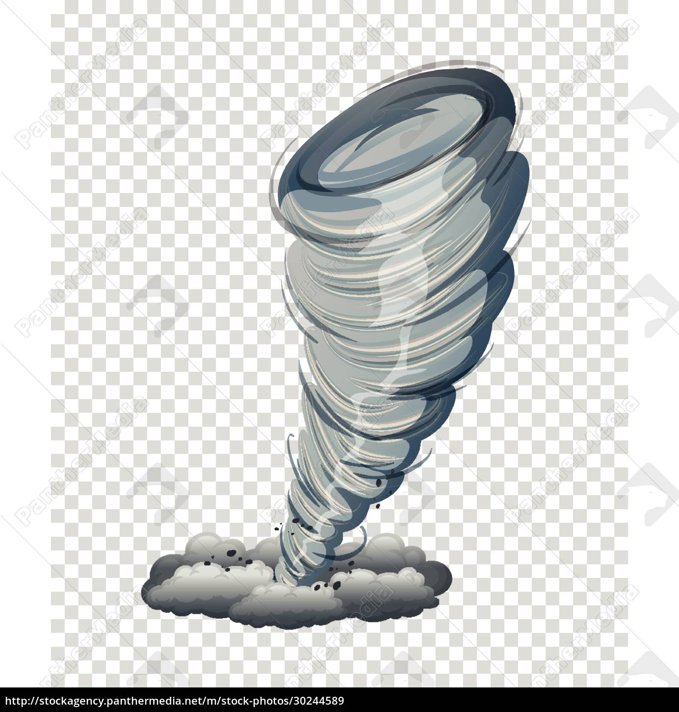 large, tornado, isolated, graphic - 30244589